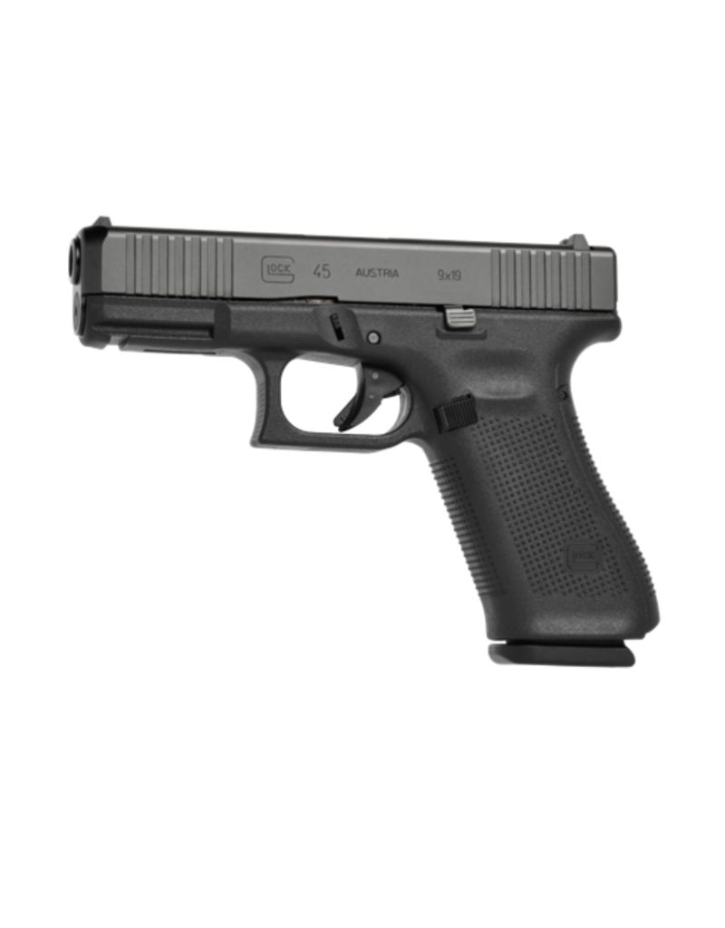 "Glock GLOCK 45 GEN 5, #PA455S302AB, 9MM, 4"", 3 MAGS, FRONT SERRATIONS, AMERIGLO BOLD NIGHT SIGHTS"