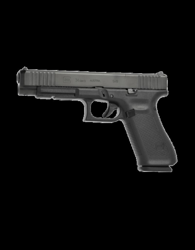 "Glock GLOCK 34 GEN 5 M.O.S GNS, #PA3430702MOS, 9MM, 5.3"", 3 MAGS, GLOCK NIGHT SIGHTS"