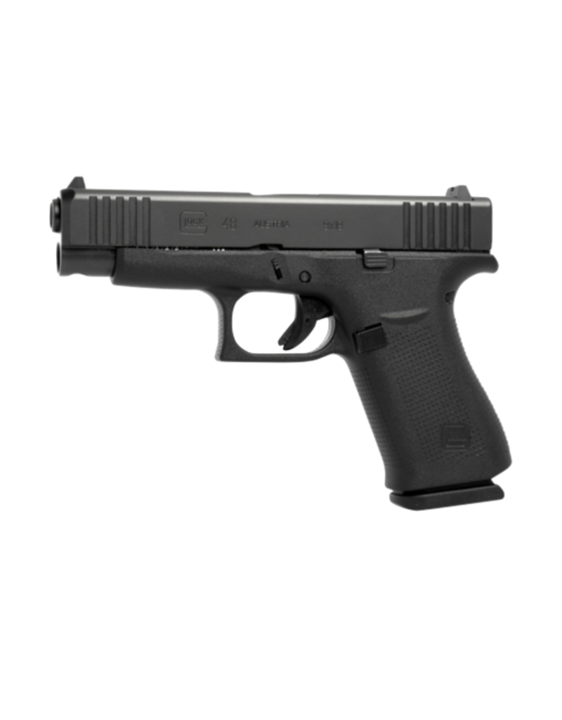"Glock GLOCK 48, #PA4850702, 9MM, 4"", SINGLE STACK, 10RD, 2 MAGAZINES, BLACK nPVD, GLOCK NIGHT SIGHTS"