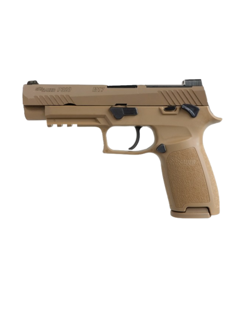 """Sig Sauer SIG SAUER P320F, #320F-9-M17-MS, 9MM, 4.7"""", 17RD, COYOTE, SIGLITE NIGHT SIGHTS, OPTIC READY, THUMB SAFETY"""