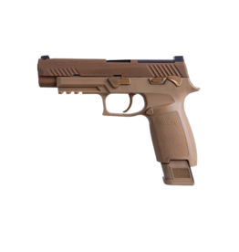 """Sig Sauer SIG SAUER M17 P320 COMMEMORATIVE, 9MM, 4.7"""", ALL COYOTE FINISH, COYOTE CONTROLS, SIGLITE NIGHT SIGHTS, 1-17rd & 2-21rd MAGAZINES"""