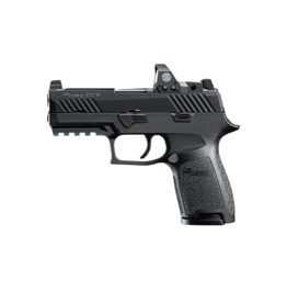 Sig Sauer SIG SAUER P320C, #320C-9-B-RX, 9MM, NITRON, MED GRIP, TALL CONTRAST SIGHTS, ROMEO OPTIC