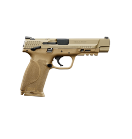 "Smith & Wesson SMITH & WESSON M&P 9 M2.0, #11537, 9MM, 5"", ARMORNITE FINISH, FDE FRAME, FIXED SIGHTS, THUMB SAFETY, 2 MAGAZINES"