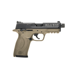 "Smith & Wesson SMITH & WESSON M&P 22 COMPACT PISTOL, #10242, 22LR, 3.56"", FDE FRAME, FIXED SIGHTS, WITH THREADED BARREL"
