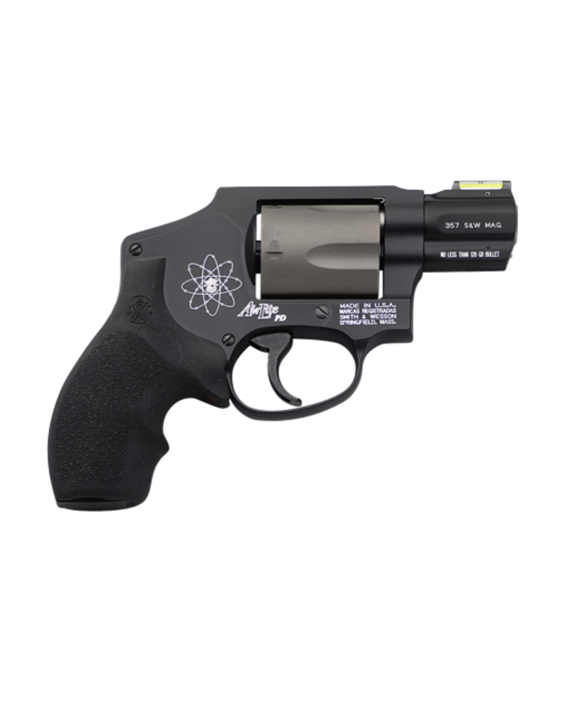"Smith & Wesson SMITH & WESSON 340PD AIRLITE, #163062, 357MAG, 2"", BLACK, SCANDIUM, HI VIZ SIGHT"
