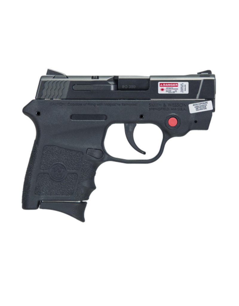 Smith & Wesson SMITH & WESSON M&P BG380 BODYGUARD, #10265, 380ACP, POLYMER, CRIMSON TRACE LASER, NO THUMB SAFETY
