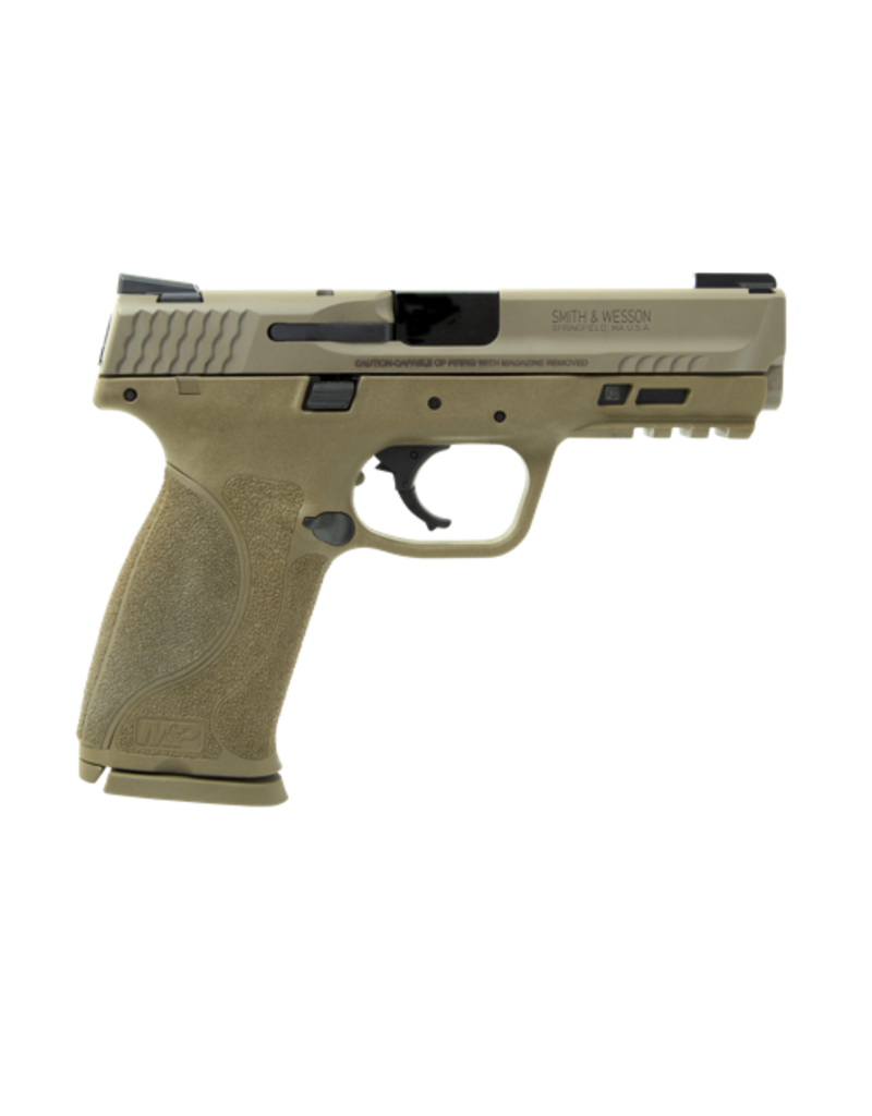 "Smith & Wesson SMITH & WESSON M&P 9 M2.0, #11767, 9MM, 4.25"", FDE, ARMORNITE FINISH, TRUGLO TFX NIGHT SIGHTS, NO MAG SAFETY, 17RD, 2 MAGAZINES"