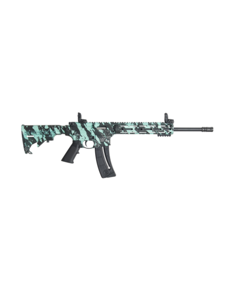 """Smith & Wesson SMITH & WESSON M&P15 22, #12066, 22LR, 16"""", PARKERIZED, TRAINER, THREADED BARREL, ROBIN'S EGG BLUE PLATINUM"""