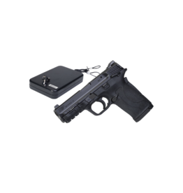 Smith & Wesson SMITH & WESSON M&P380 SHIELD EZ LOCKDOWN HOLIDAY PACKAGE, #12493, 380ACP, THUMB SAFETY, 3 DOT SIGHTS, AND LOCKDOWN KEYED LARGE HANDGUN VAULT