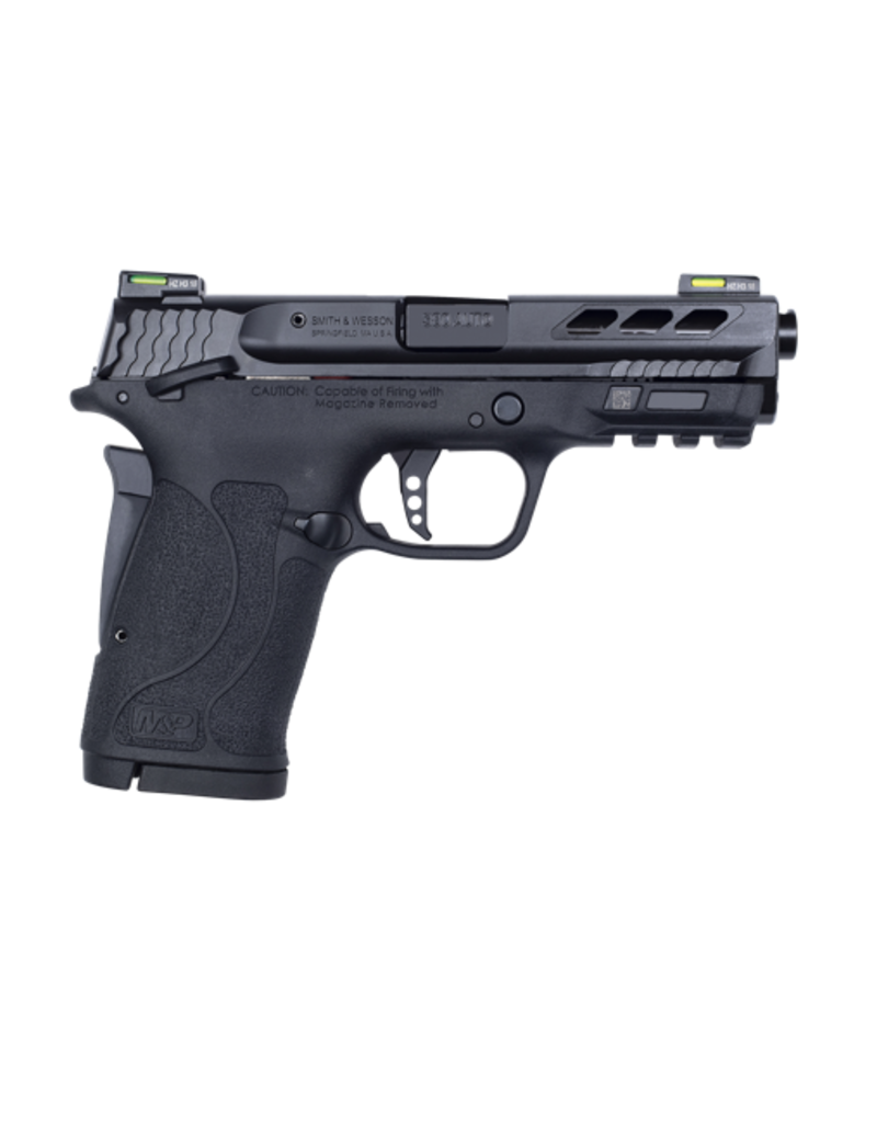Smith & Wesson SMITH & WESSON M&P380 PORTED PERFORMANCE CENTER SHIELD EZ, #12717, 380ACP, THUMB SAFETY, FIBER OPTIC SIGHT, BLACK BARREL