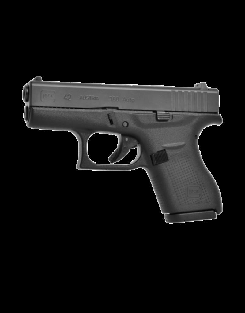 Glock GLOCK 42, #UI42502, .380ACP, 2 MAGAZINES, GLOCK NIGHT SIGHTS