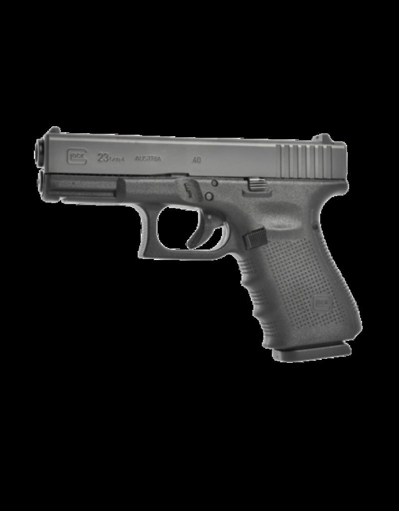 "Glock GLOCK 23 GEN 4, #PG23507, GLOCK NIGHT SIGHTS, 40S&W, 4"", 3 MAGS"
