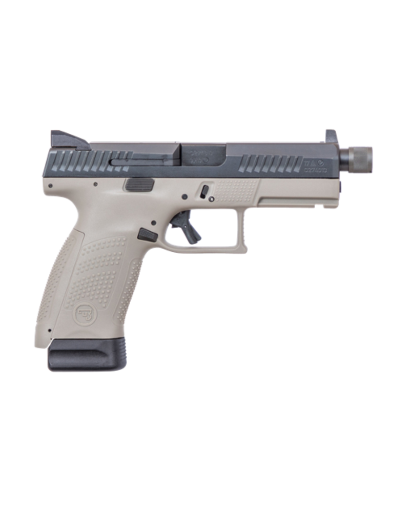 "CZ CZ P-10 COMPACT, #91534, 9MM, 4.61"", URBAN GREY, NIGHT SIGHTS, THREADED BARREL, 17RD MAGAZINES"