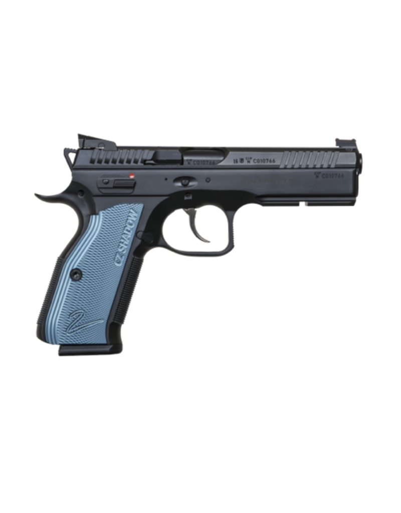 CZ CZ SHADOW 2, #91257, 9MM, BLACK POLYCOAT, BLUE GRIPS, 17 RDS