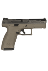 CZ CZ P-10 COMPACT, #91532, 9MM, 15RDS, FDE, NIGHT SIGHTS, REVERSIBLE MAG CATCH