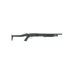 "Mossberg/Maverick MOSSBERG MAVERICK 88 RIOT, #31027, 12GA, 18.5"", BLUE, PUMP, SYNTH, 6 SHOT, TOP FOLDING STOCK"