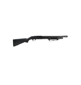 "Mossberg/Maverick MOSSBERG 500, #54124, 12GA, 18"", 6 SHOT, MATTE BLUE, BEAD SIGHT, FOREND STRAP - DISC"