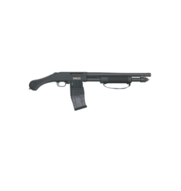 "Mossberg/Maverick Mossberg, #50208, 590M Shockwave, Pump Shotgun, 12Ga 3"", 14"" Barrel, Black Finish, Pistol Grip, 1 Mag, 10Rd, 26.5"" Overall Length, Bead Sight, Magazine Fed"