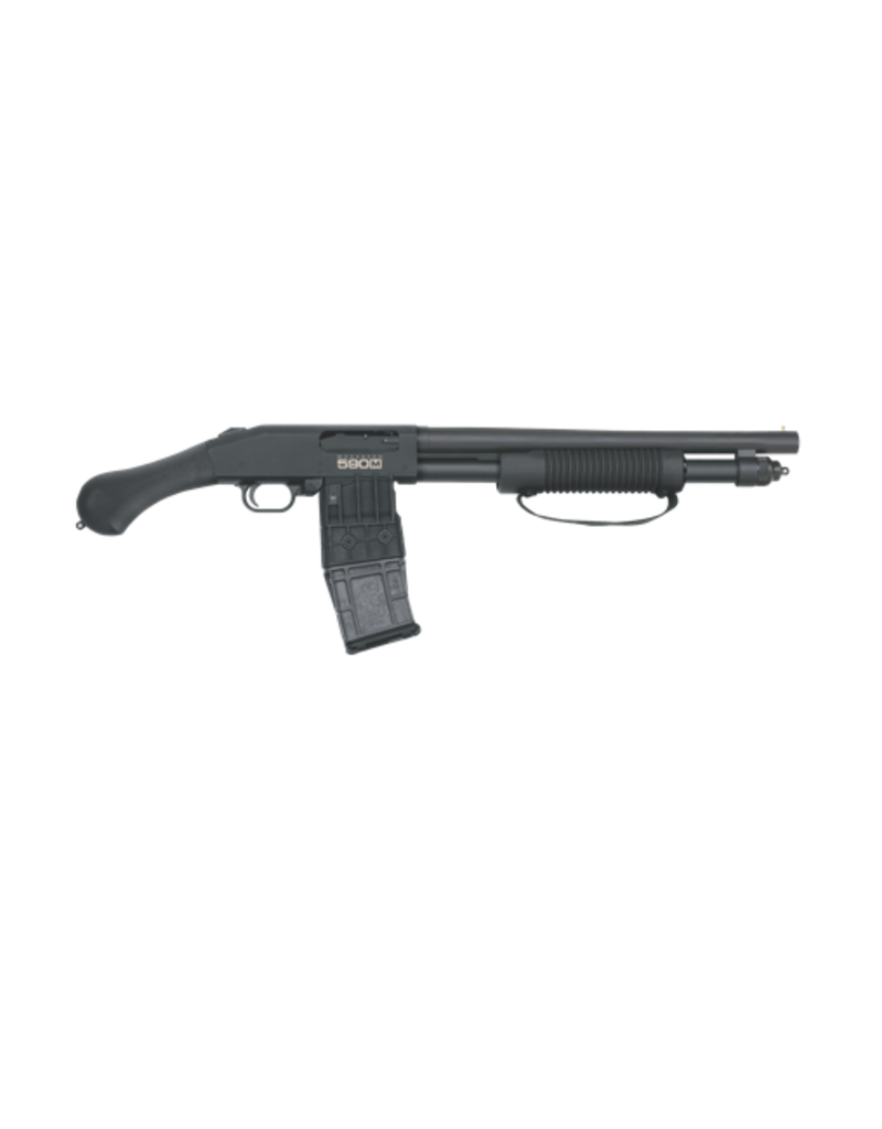 "Mossberg/Maverick Mossberg, #50208, 590M Shockwave, Pump Shotgun, 12Ga 3"", 14"" Barrel, Black Finish, Pistol Grip, 1 Mag, 10Rd, 26.5"" Overall Length, Bead Sight, Magazine Fed"