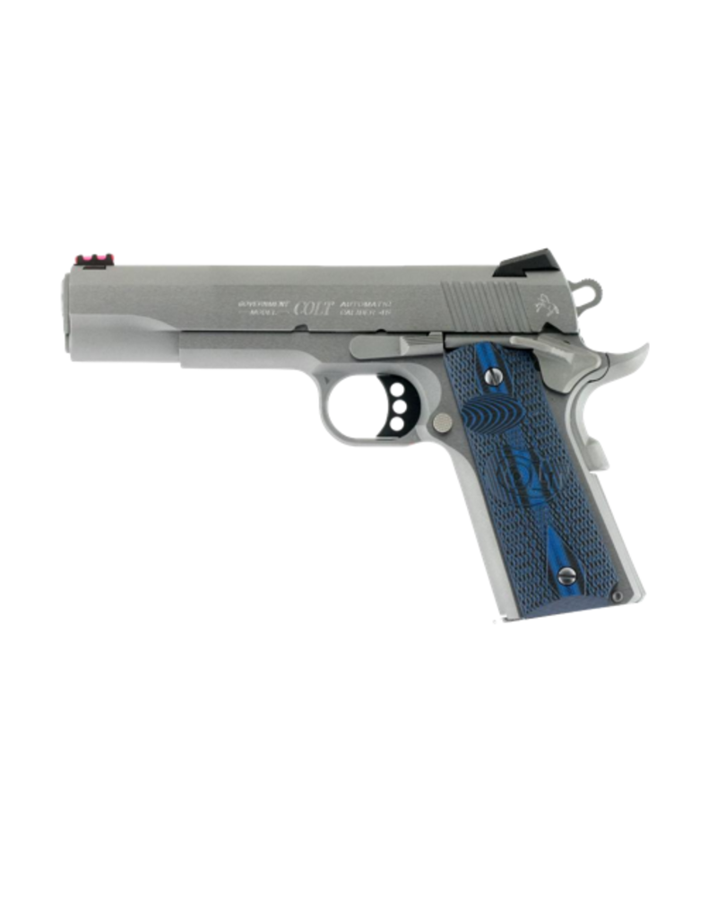 """Colt COLT COMPETITION 1911, 45 ACP, STAINLESS, 5"""", FIBER OPTIC FRONT SIGHT"""