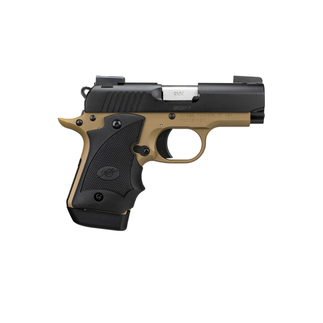 Kimber Micro 9 Stainless Dn Tfx Pro Sight Hogue: KIMBER MICRO 9 DESERT NIGHT, #33197, 9MM, DN/TFX PRO SIGHT