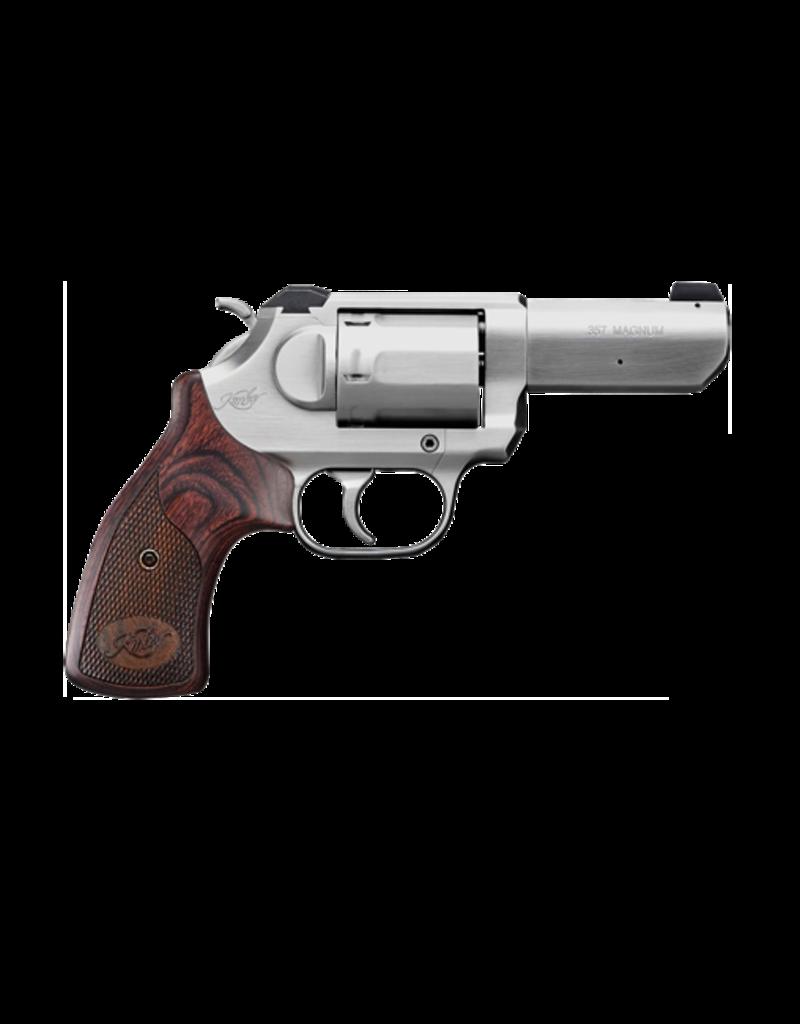 "Kimber KIMBER K6S DA/SA, #3400016, 357 MAG, 3"", 6 SHOT, STAINLESS, WALNUT GRIPS, WHITE DOT SIGHT"