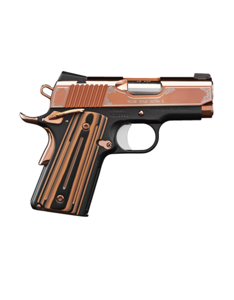 "Kimber KIMBER ROSE GOLD ULTRA II, #32373, 45ACP, 3"" ROSE GOLD FINISH"