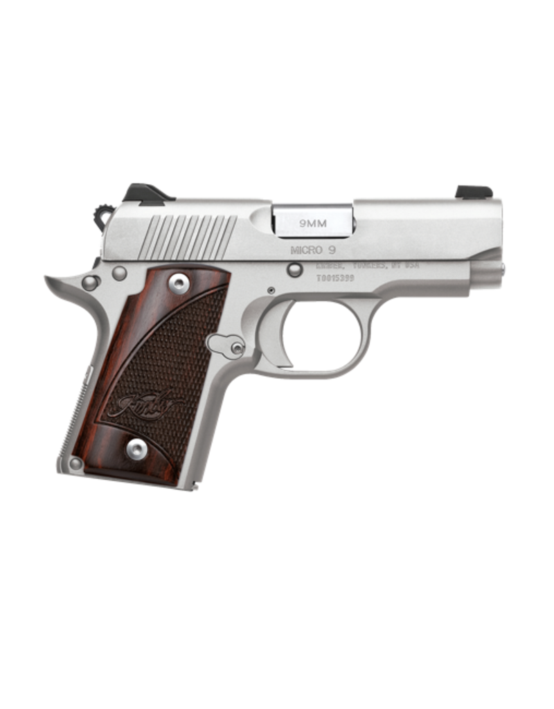 Kimber KIMBER MICRO 9 STAINLESS, #33158, 9MM, ST/ST, ROSEWOOD GRIP