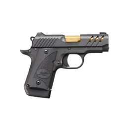 Kimber KIMBER MICRO 9 ESV BLACK, #3300199, 9MM, NIGHT SIGHTS, BLACK, GOLD TITANIUM BARREL