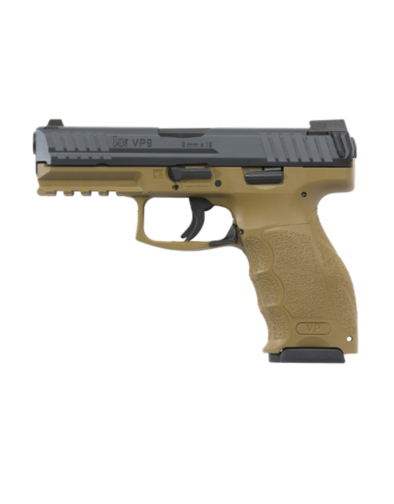 H&K H&K VP9, #700009FDELE-A5, 9MM, STRIKER FIRE, FDE, 3-15RD MAGS