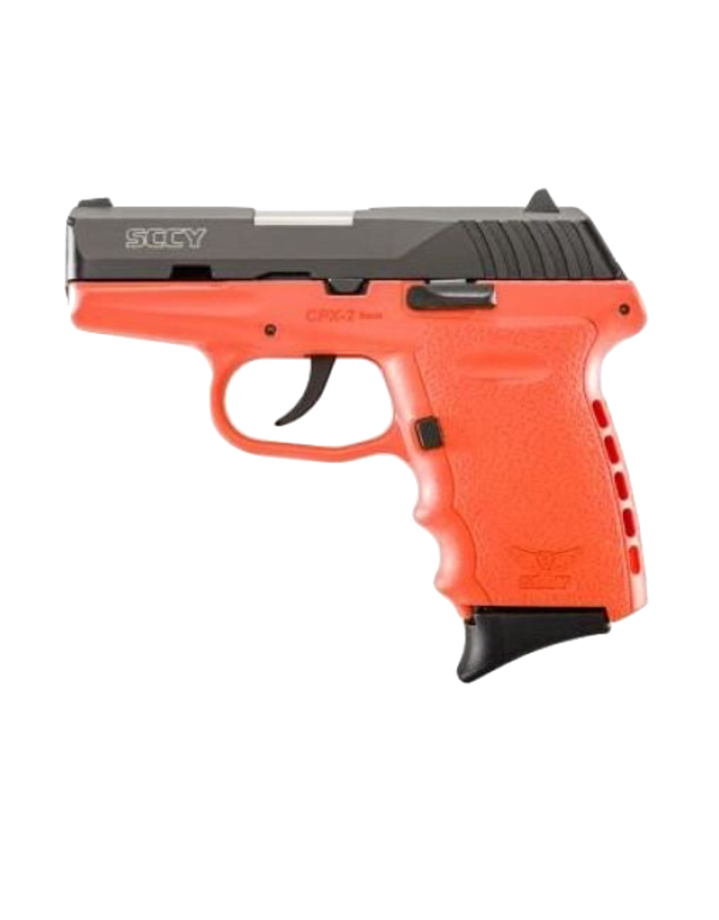 SCCY SCCY INDUSTRIES CPX-2, #CPX-2CBOR, 9MM, DOUBLE ACTION ONLY, ORANGE FRAME