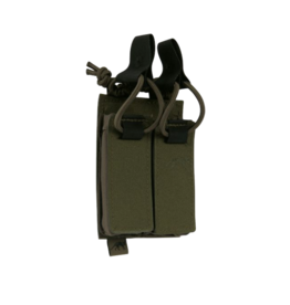 TASMANIAN TIGER TASMANIAN TIGER DOUBLE PISTOL MAG POUCH, BUNGEE, OLIVE