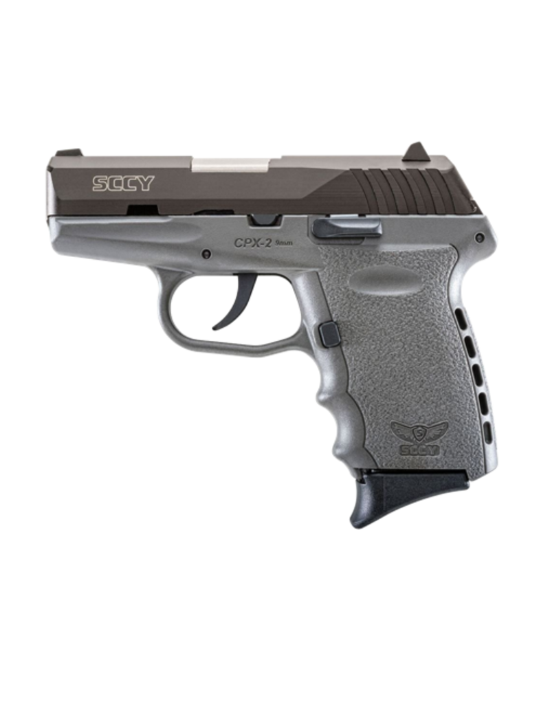 SCCY SCCY INDUSTRIES CPX-2, #CPX-2CBSG, 9MM, DOUBLE ACTION ONLY, BLACK STAINLESS, SNIPER GRAY, POLY FRAME