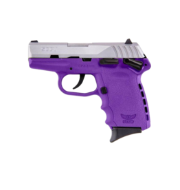 SCCY SCCY INDUSTRIES CPX-1, #CPX-1TTPU, 9MM, DOUBLE ACTION ONLY, PURPLE POLY FRAME, TWO TONE