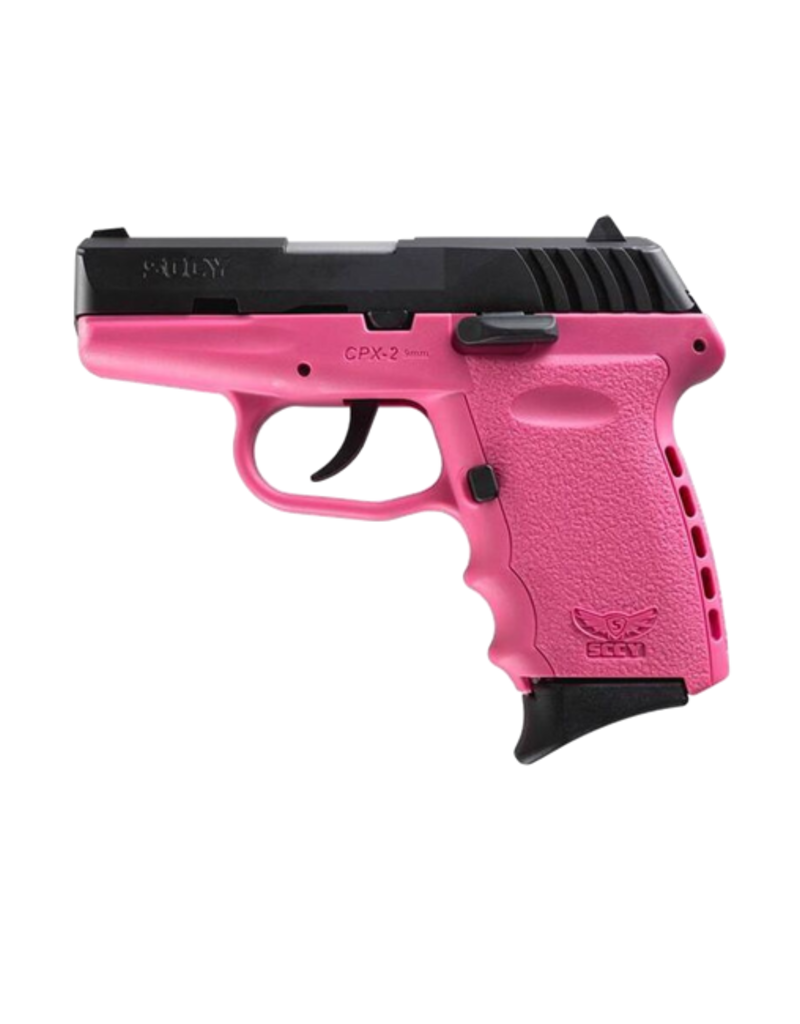 SCCY SCCY INDUSTRIES CPX-2, #CPX-2CBPK, 9MM, DOUBLE ACTION ONLY, PINK POLY FRAME