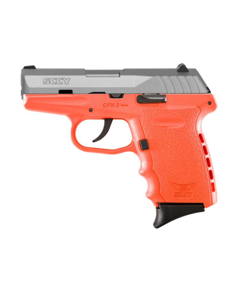 SCCY SCCY INDUSTRIES CPX-2, #CPX-2TTOR, 9MM, DOUBLE ACTION ONLY, ORANGE FRAME