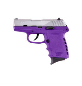 SCCY SCCY INDUSTRIES CPX-2, #CPX-2TTPU, 9MM, DOUBLE ACTION ONLY, PURPLE POLY FRAME, TWO TONE