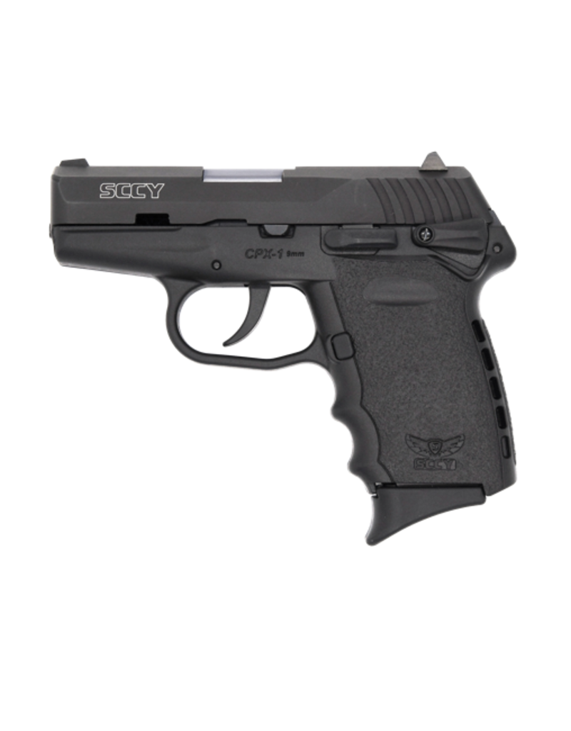 """SCCY SCCY INDUSTRIES CPX-1, #CPX-1 CB, 9MM, Double Action Only, Compact, 3.1"""" Barrel, Polymer Frame, Black Finish, 10Rd, 3 Dot Sights, 2 Magazines"""