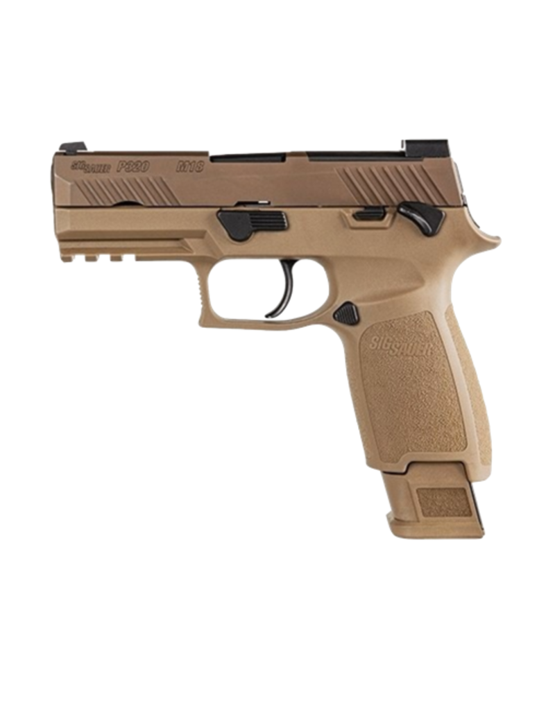 Sig Sauer SIG SAUER M18, P320, 9MM, 3.9IN, COYOTE, (1) 17RD (2) 21RD MAG, MANUAL SAFETY