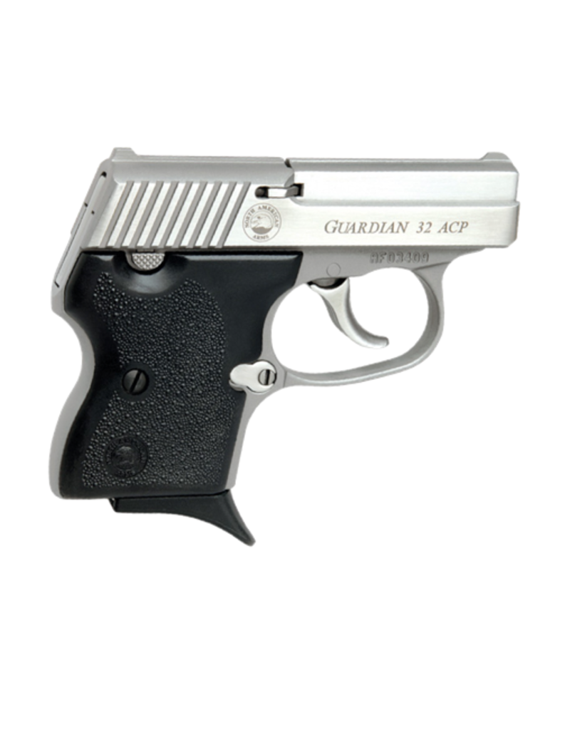 North American Arms NORTH AMERICAN ARMS GUARDIAN, #NAA-32 GUARDIAN, 32ACP, STAINLESS, 6RDS