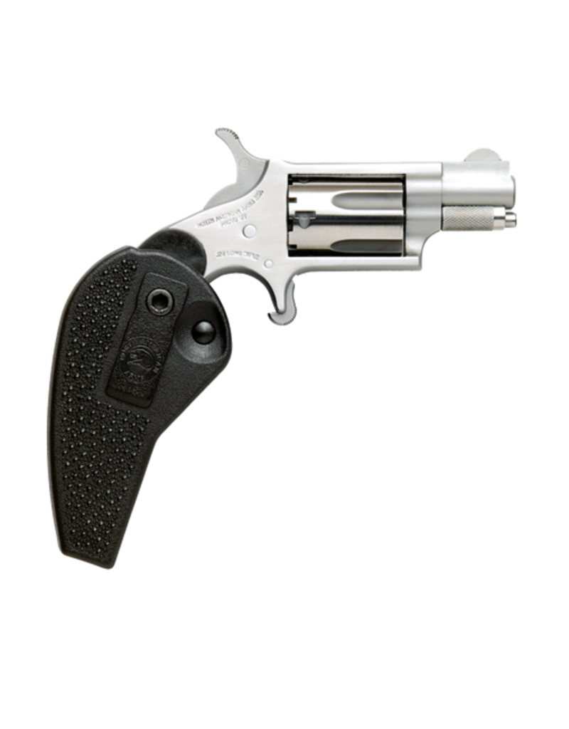 "North American Arms NORTH AMERICAN ARMS MINI REVOLVER, #NAA-22MS-HG, 22M, STAINLESS, 1.1"", HOLSTER GRIP"
