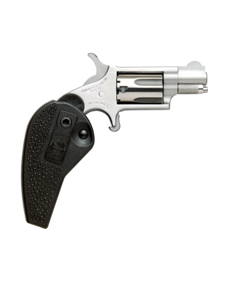 """North American Arms NORTH AMERICAN ARMS MINI REVOLVER, #NAA-22LLR-HG, 22LR, STAINLESS, 1.5"""", HOLSTER GRIP"""