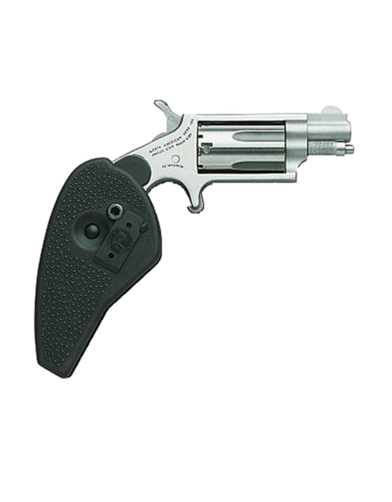 "North American Arms NORTH AMERICAN ARMS MINI REVOLVER, #NAA-22MSC-HG,  COMBO 22LR/22M, STAINLESS, 1.1"", HOLSTER GRIP"