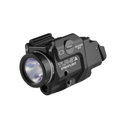 Streamlight STREAMLIGHT TLR-8A FLEX, #69414, COMPACT LED LIGHT / RED LASER, 500 LUMENS, CR123 BATTERY, BLACK, HIGH AND LOW SWITCH