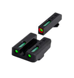 TruGlo TRUGLO TFX PRO SIGHTS, GLOCK 17/22/34, #TG13GL1PC, TRITIUM/FIBER OPTIC SIGHT, GREEN, ORANGE FOCUS LOCK RING,