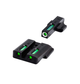 TruGlo TRUGLO TFX SIGHTS, M&P, #TG13MP1A, TRITIUM/FIBER OPTIC SIGHT, GREEN, FOCUS LOCK RING