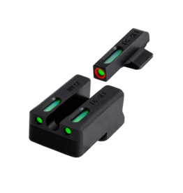 TruGlo TRUGLO TFX PRO DAY/NIGHT SIGHT, #TG13NV3PC, .260 FRONT / .500 REAR, TRITIUM, FIBER OPTIC, ORANGE OUTLINE FRONT, U NOTCH REAR,