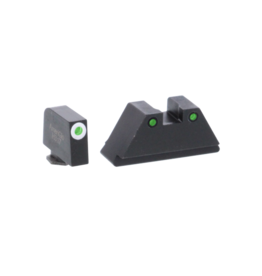 AMERIGLO XI SUPPRESSOR SIGHT SET, #GL152,  WHITE TRITIUM