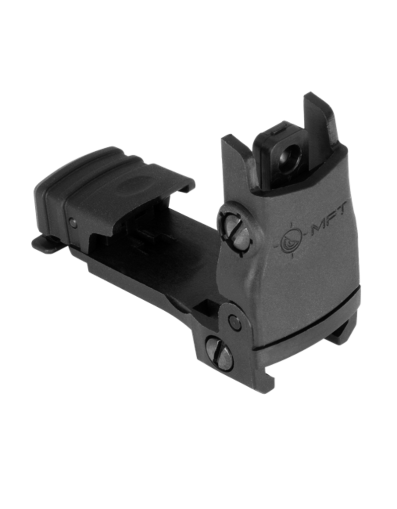 MFT MISSION FIRST TACTICAL FLIP-UP REAR SIGHT, POLYMER