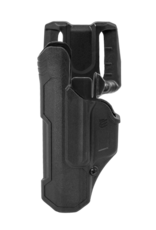 Blackhawk BLACKHAWK T-SERIES L2D HOLSTER, GLOCK 17 / 19 / 22 / 23 / 45, LEFT HAND, BLACK, LEVEL 2 RETENTION